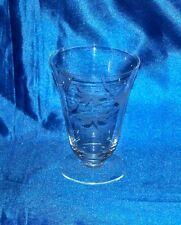 Leaf / Wheat Pattern Etched 10 oz Crystal Water Glass