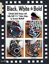 Black White & Bold: Colorful Quilt Designs with Jelly Roll Fabric Strips (Design