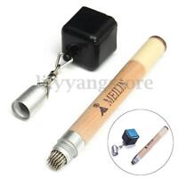 2 in 1 Chalk Holder Magnetic Stick Billiard Snooker Pool Cue Tip Pricker   A