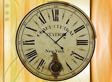 Riesen Wand Uhr Amerika New York Central Mobiliar & Interieur Geschenk Vintage 1