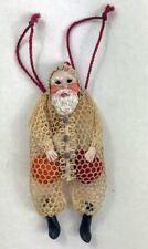 DOLLHOUSE MINIATURE Santa Sack TOY artist sculpted crocheted 1:12 **UNUSUAL**