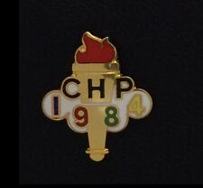 Olympic Pin Badge~CHP~California Highway Patrol~Police~Torch~LA 1984~Los Angeles