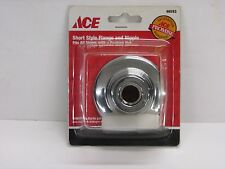 NOS! ACE SHORT STYLE FLANGE & NIPPLE, FITS ALL STEMS WITH PACKING NUT, #46593