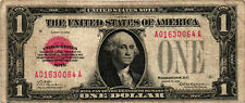 1928 $1.00 United States Note (Red Seal) FR 1500 - G. Washington - VF A01630064A