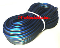 12 Gauge 60' ft SPEAKER WIRE Blue Black Premium HQ Car Audio Home Stereo Cable