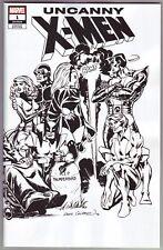 2018 Marvel Uncanny X-men #1 Cockrum Hidden Gem Black and White Variant NM