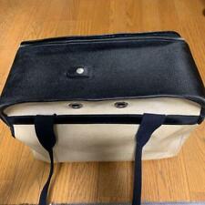 HERMES Canvas Dog Carrier Bag Pet Carry Bag Travel Black