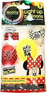Minnie Mouse Light Up Balloons - illooms LED Balloons - New FREE UK DELIVERY