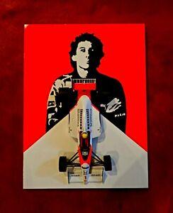 Ayrton Senna McLaren MP4/5B Minichamps 1/18 On A Hand Painted Model Mount