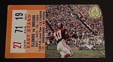 1969 Illinois Vs Indiana Football Ticket Stub HOMECOMING