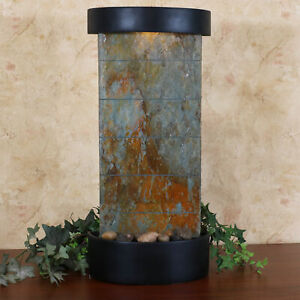 Sunnydaze Indoor Tabletop or Wall Water Fountain Feature - Natural Slate - 25""