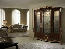 XXL Display Case Glass Wall Cabinet Shelf Baroque Rococo Style Art Nouveau Italy