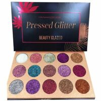 15Colors Diamond Glitter Rainbow Eye Shadow MakeUp Cosmetic Pressed Palette 40g