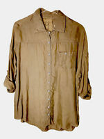 NWT Johnny Was Pete & Greta Size small soft cupra button down shirt oversized