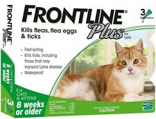 Frontline Plus for Cats 8 weeks up 3 Months Supply Merial Green Box
