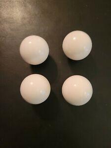 "(4) Vintage Style 1"" White Round Porcelain Ceramic Cabinet Drawer Pull Knobs"