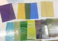 WISMACH Brand VARIETY PACK 5x7 FIFTEEN pieces of STAINED GLASS