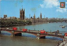 BT18477 The houses of parliament and lambeth bridge bus london  uk