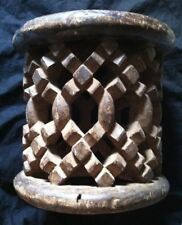 Vintage Antique West African Carved Wood CHIEF'S PRESTIGE SPIDER STOOL Cameroon