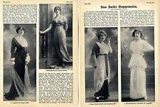 Neue Pariser Sommermoden Historischer Mode-Foto-Report von 1912
