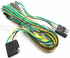 20ft Trailer Wire Male & Female 4-Pole Connectors for 4 Flat Wire Plugs RV Boat