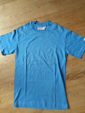 Designer Hanes Beefy Light Baby Blue Cotton T Shirt Size Small