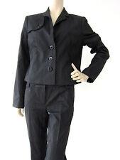 Gestreifte Einreihige Damen-Anzüge & -Kombinationen aus Baumwolle mit Jacket/Blazer