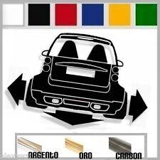 adesivo sticker SMART TWO BRA.BUS  tuning down-out dub prespaziato,auto