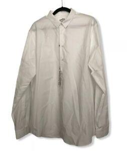 Jil Sander Men Shirt Size 43/17 NWT White 100% Cotton