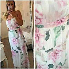 JESSICA WRIGHT SIZE 12 CHIFFON BANDEAU MAXI DRESS BNWT SISTAGLAM  / LIPSY / NEXT