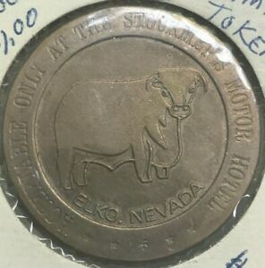 Elko, Nevada NV 1968 Stockmen's Motor Hotel Casino Gaming Token
