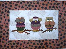Quilt PATTERN Owl be Good! Hear speak see no evil New Su Sun Design applique