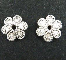 150pcs Tibetan Silver Nice Flower Bead Caps 10x3mm zn60114