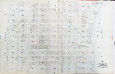 1885 ROBINSON REPRODUCTION ATLAS MAP SPANISH EAST HARLEM MANHATTAN NEW YORK CITY