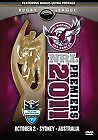 NRL - MANLY SEA EAGLES PREMIERS 2011  New Sealed  DVD - ALL REGIONS