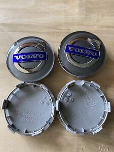 4 Nabendeckel/Radkappen für Alufelgen von Volvo in schwarz