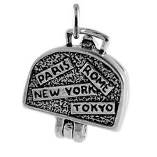 925 Sterling Silver Suitcase Charm