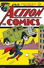 DC SUPERMAN MAN OF STEEL ACTION COMIC 33 COVER POSTER 22x34 NEW FREE SHIPPING