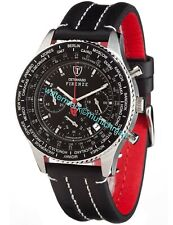 DETOMASO Firenze Mens Wrist Watch Sport Chrono Stainless Steel Black SL1624C-BK