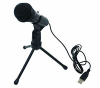 Condenser USB Gaming Recording Microphone Adjustable Tripod Stand For PC & Mac