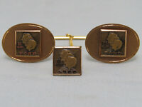 Vintage Ford 30 Years Employee Award 10K Gold Filled Cufflinks & Tie Pin/Tack