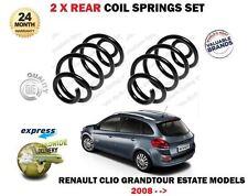 FOR RENAULT CLIO GRANDTOUR ESTATE 16V + DCI 2008-> NEW 2 x REAR COIL SPRING SET