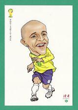 FOOTBALL - DUHZE POSTCARD OF CHINA - FOOTBALL WORLD CUP 2014  -  ROBERTO  CARLOS