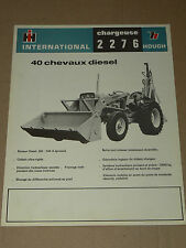 Prospectus  Tracteur 2276  INTERNATIONAL  IH  Mac Cormick TP prospekt  brochure