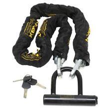 "Alcatraz Knox Motorcycle Moped Bike 46"" HARDENED STEEL 10mm Chain & Mini U Lock"
