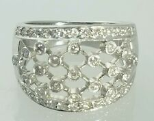 14 K White Gold ring with Diamonds