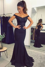 Mermaid Prom Dress Lace Crystal Sleeveless Long Party Dress Evening Gowns Custom