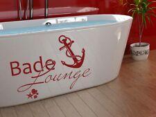 Tatuaggio Parete Bagno Frase balneazione Lounge ANCORAGGIO MURO ADESIVI Maritime decorazione tatto