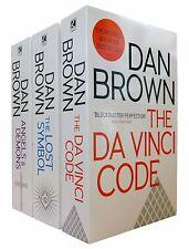 Dan Brown 3 Books Set Collection Angels & Demons, The Da Vinci Code,...etc
