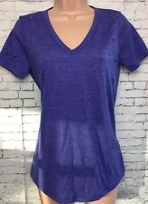 BNWT NEXT 6 Blue Short Sleeved V Neck Nibbled Distressed T-shirt Tunic Top